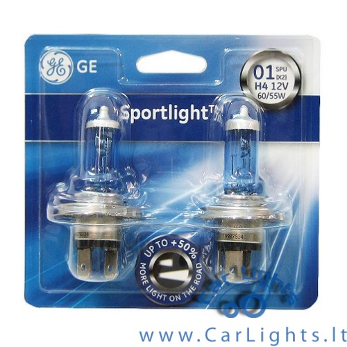 General Electric(GE) H4 Sportlight Lemputės