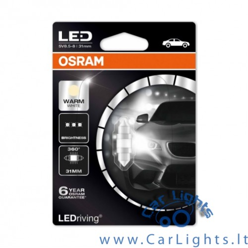 OSRAM Led C5W Warm White 4000K 31mm Premium