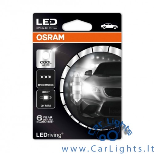 OSRAM Led C5W Cool White 6000K 31mm Premium