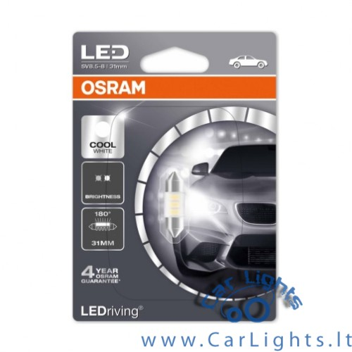 OSRAM Led C5W Cool White 6000K 31mm Standard