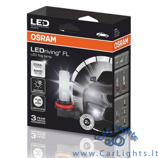 OSRAM Ledriving FL H8/H11/H16 Led Fog Lamp