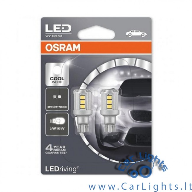OSRAM Led W16W Cool White 6000K Standard
