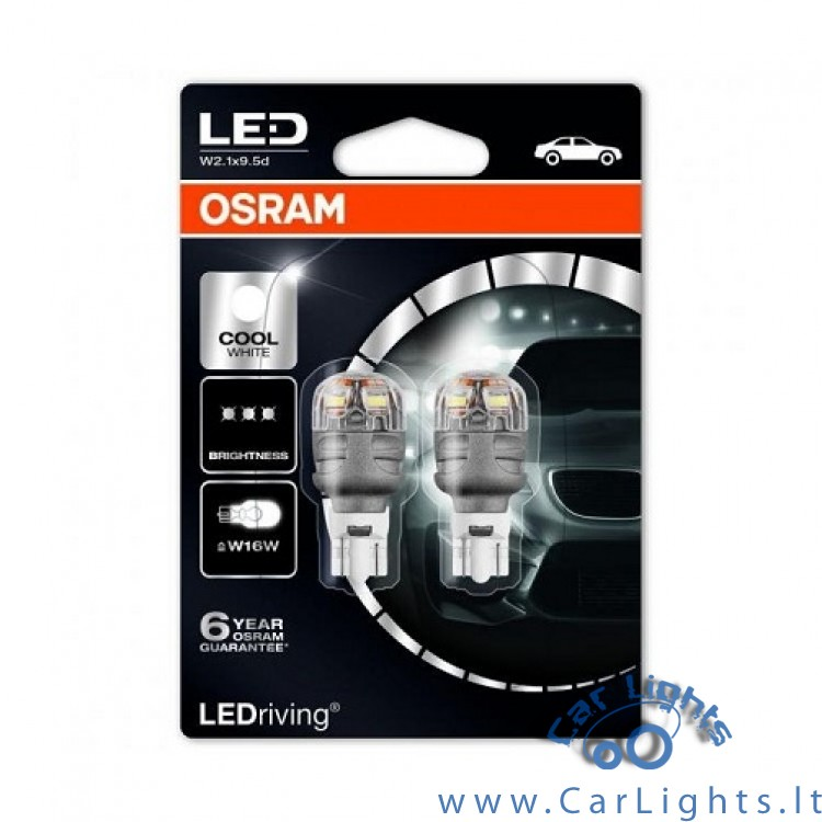 OSRAM Led W16W Cool White 6000K Premium