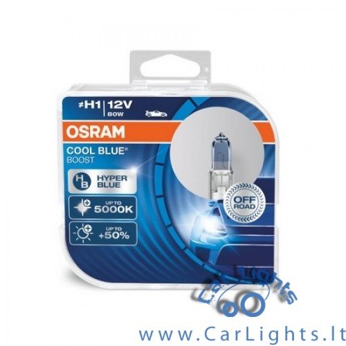 OSRAM H1 Cool Blue Boost Lemputės