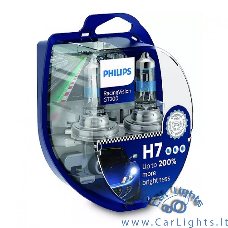 PHILIPS H7 Racing Vision GT200 Lemputės