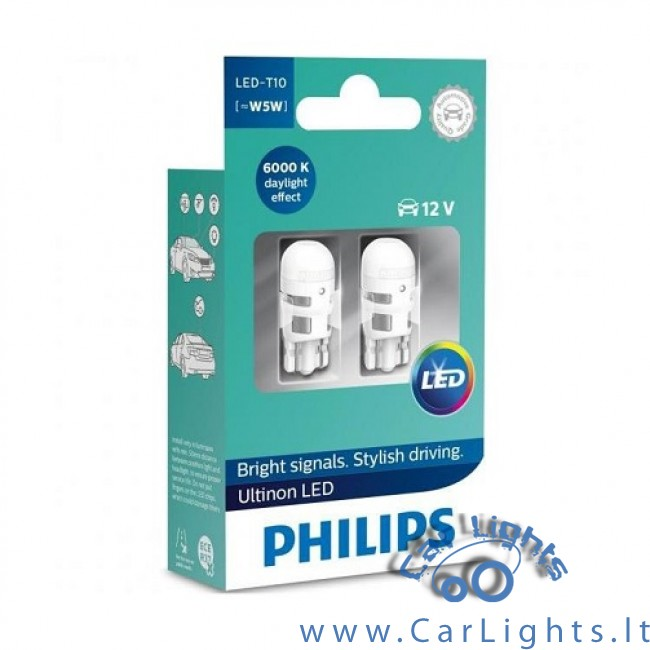 PHILIPS Led W5W T10 Ultinon 6000K