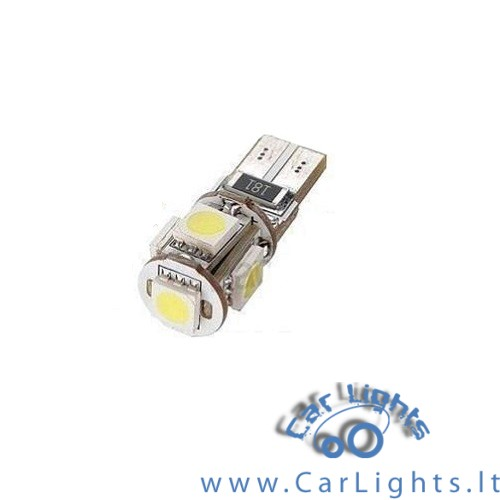 T10 W5W CanBus 5 SMD 5050